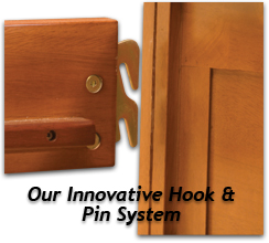 hook pin rail system