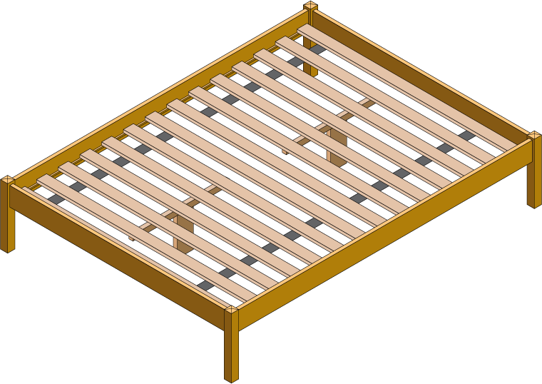 Hardwood Slat Kit Diagram