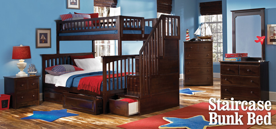 Check out our Columbia Staircase Bunk Bed!