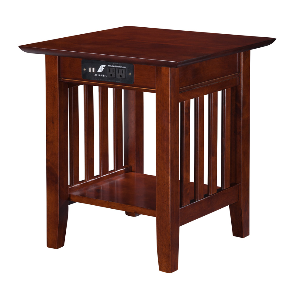 atlantic furniture inc occasional tables mission end table