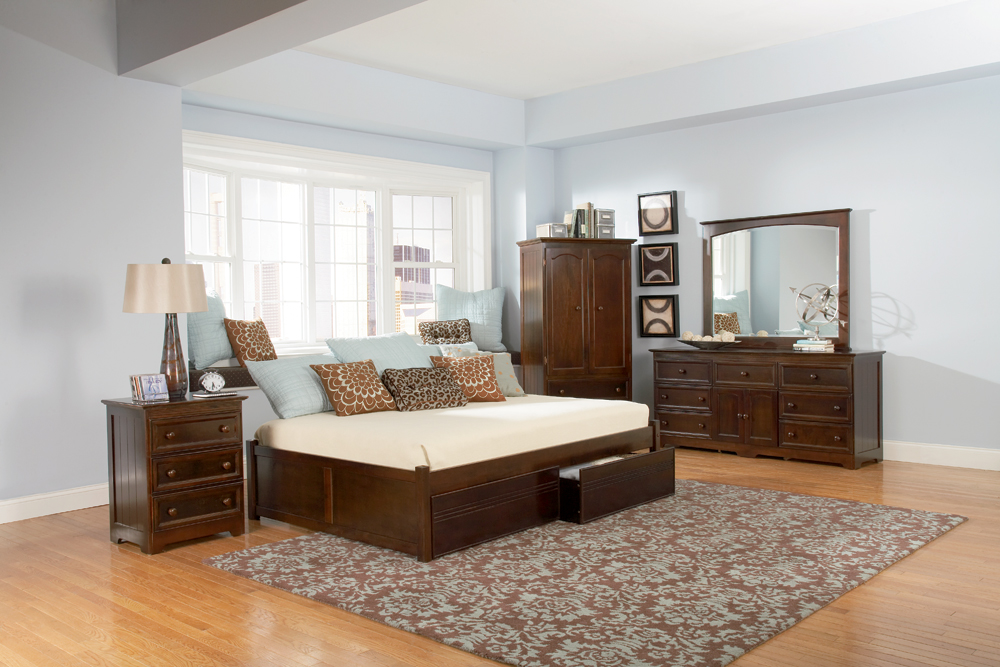 Twin Platform Bed with Drawers